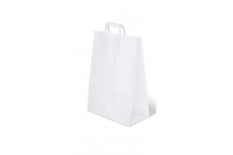 Eco bag white 768x512 - Бумажные пакеты ECO CarrBag pl W 280 с ручками