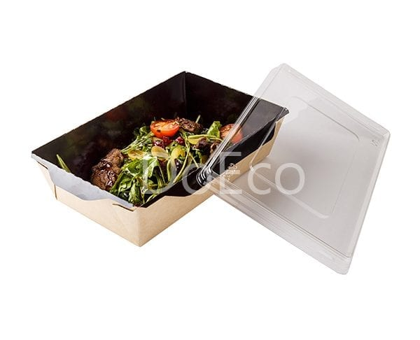 Eco Opsalad black edition doeco 600x486 - Salad Box with transparent plastic cover «Black Edition»