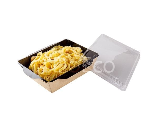 eco opsalad black edition doeco 2 600x484 - Salad Box with transparent plastic cover «Black Edition»