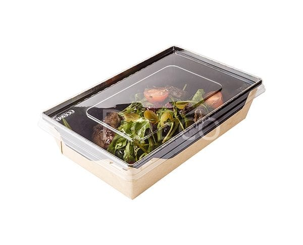 eco opsalad black edition doeco 4 600x486 - Salad Box with transparent plastic cover «Black Edition»