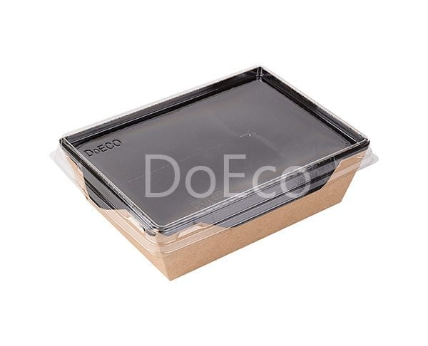 eco opsalad black edition doeco 5 600x486 - Salad Box with transparent plastic cover «Black Edition»
