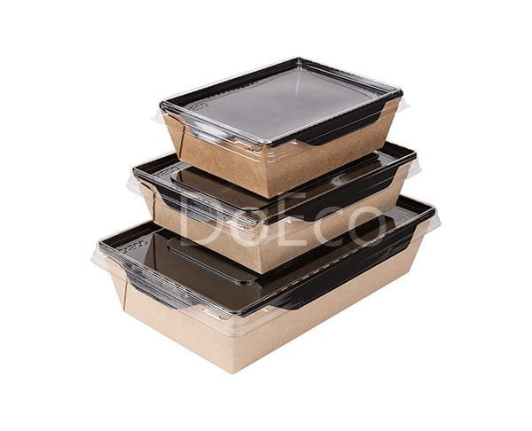 eco opsalad black edition doeco 6 600x486 - Salad Box with transparent plastic cover «Black Edition»