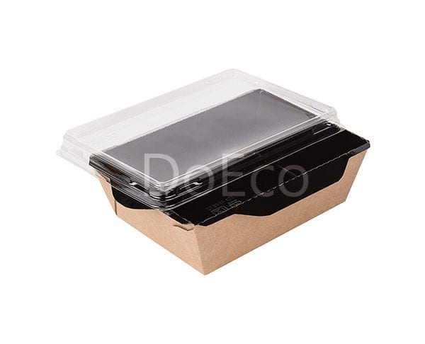 eco opsalad black edition doeco 7 600x486 - Salad Box with transparent plastic cover «Black Edition»
