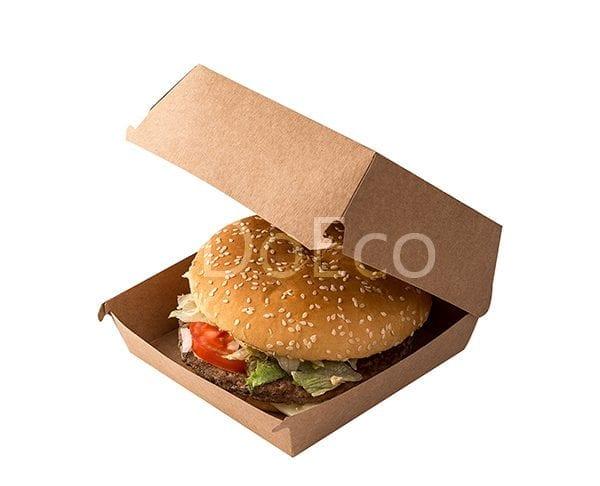 "eco burger pure kraft doeco 600x486 - Packaging per Burgers ""Pure Kraft"""