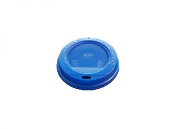 Blue lid 600x450 - Крышка для стаканов CUP COVER 250 BLUE 80 мм синяя