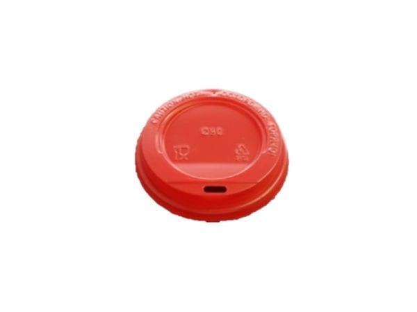 Red lid 600x450 - Крышка для стаканов CUP COVER 350 Red 90 мм красная