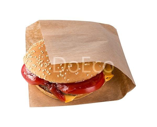 Sandwich bag doeco 600x486 - Бумажные уголки ECO SANDWICH BAG M для бургеров и сэндвичей