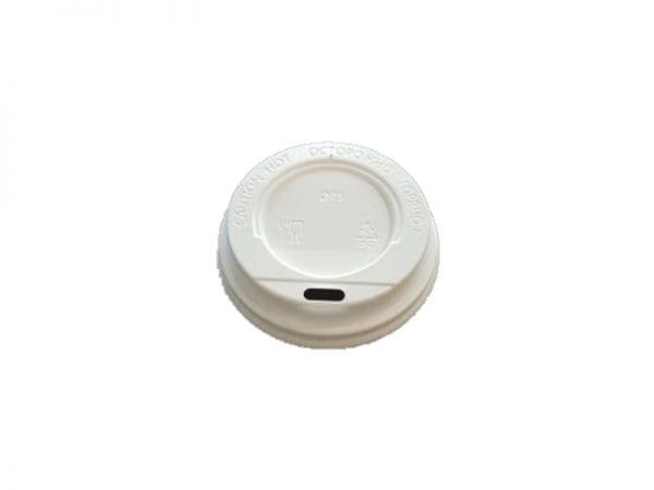 White lid 600x450 - Крышка для стаканов CUP COVER 350 90 мм белая