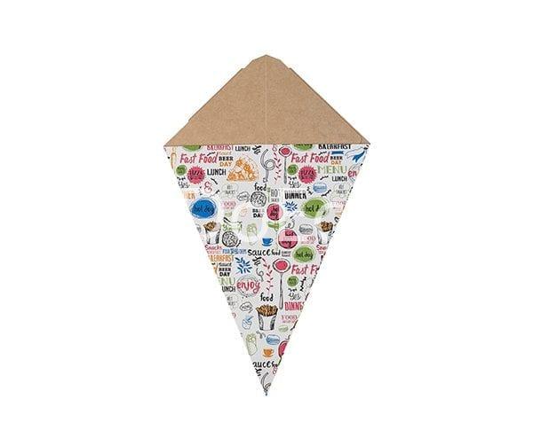 "eco cone enjoy doeco 2 600x476 - Cono per fritti con dispencer per salse ""Enjoy"""