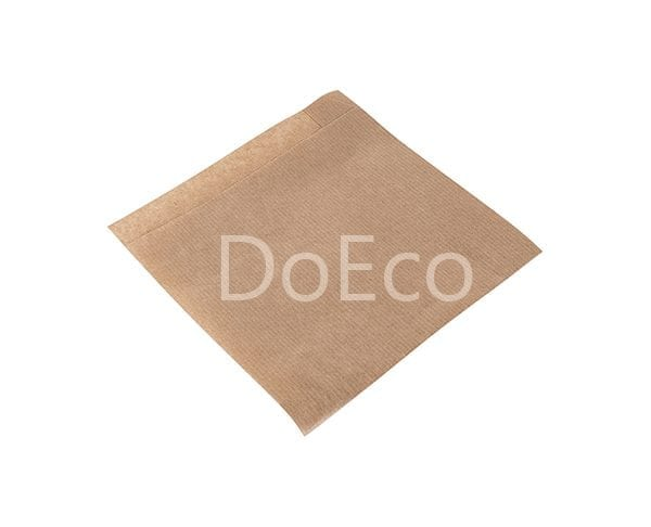 eco kraft pocket doeco 4 600x486 - Бумажные уголки ECO SANDWICH BAG M для бургеров и сэндвичей