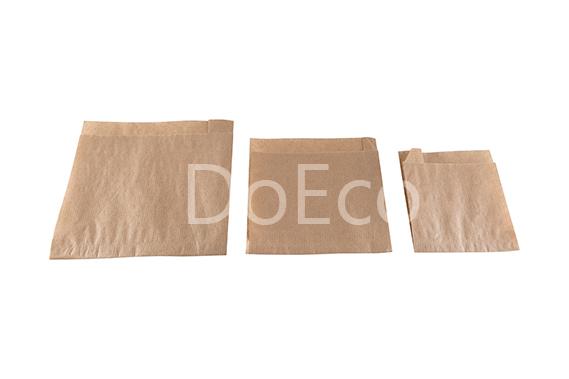 eco kraft pocket doeco 5 - Бумажные уголки ECO SANDWICH BAG M для бургеров и сэндвичей
