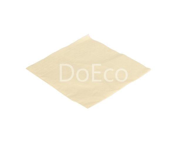 eco napkins different colours doeco 2 600x486 - Бумажные салфетки NAP 24 (2) Cream двухслойные 24х24 см крем-шампань