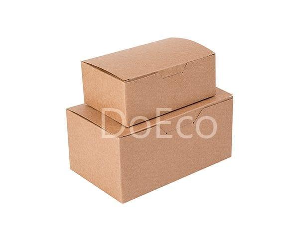 eco nugget box pure kraft doeco 1 600x486 - Коробки ECO FAST FOOD BOX L Pure Kraft для наггетсов