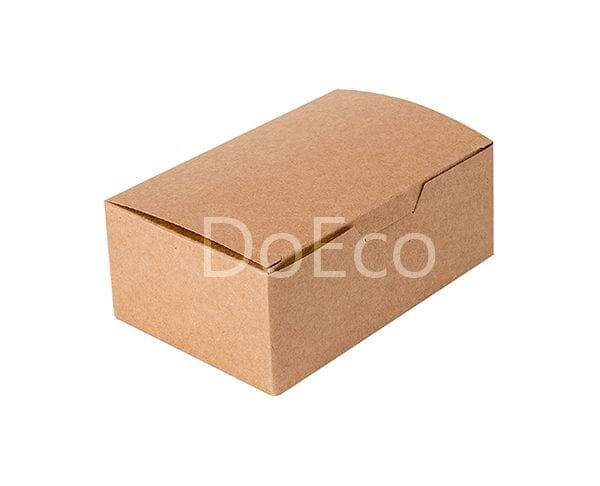 eco nugget box pure kraft doeco 2 600x486 - Коробки ECO FAST FOOD BOX L Pure Kraft для наггетсов
