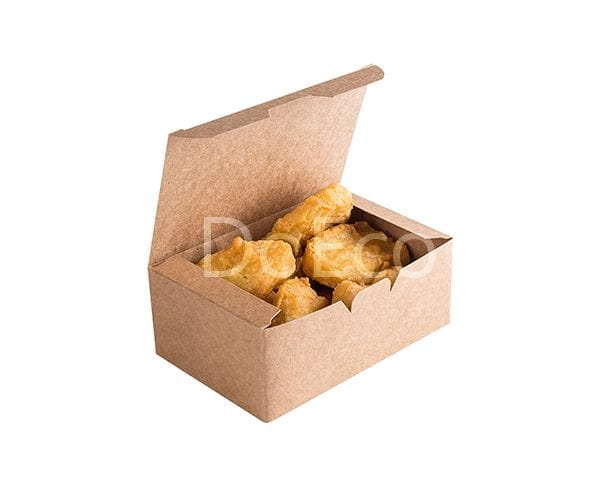 eco fast food box pure kraft doeco 600x486 - Коробки ECO FAST FOOD BOX L Pure Kraft для наггетсов