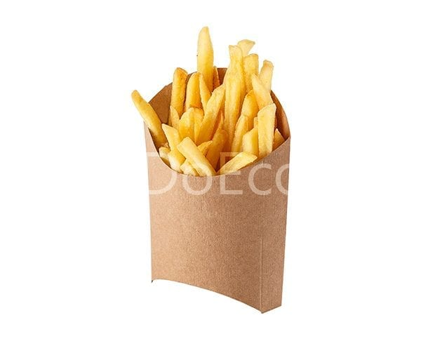 eco fry pure kraft doeco 600x486 - Упаковка ECO FRY M Pure Kraft для картофеля