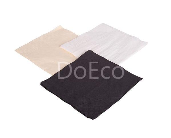eco napkins doeco 600x486 - Бумажные салфетки NAP 24 (2) White двухслойные 24х24 см белые
