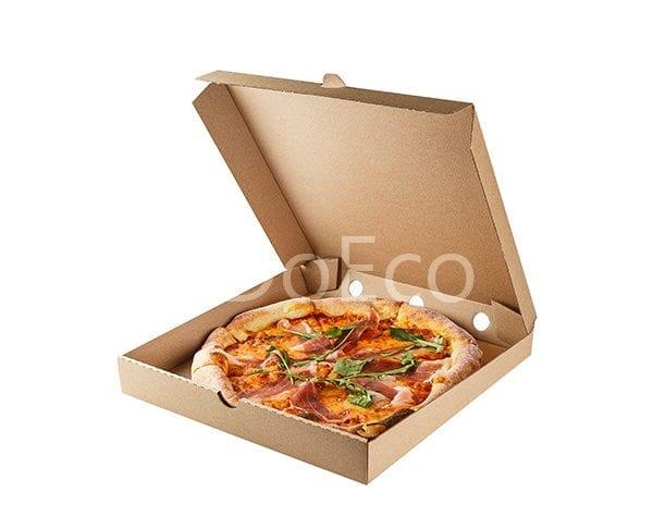 eco pizza pure kraft doeco 600x486 - Коробки ECO PIZZA 400 Pure Kraft для пиццы
