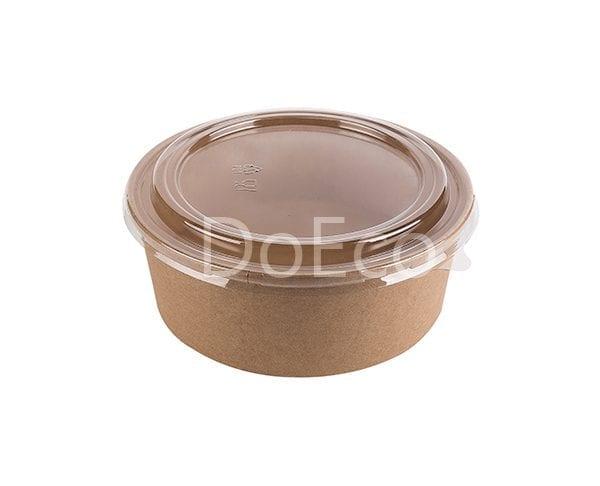 eco rcont doeco salad box 1 600x486 - Contenitore di cartone rotondo con coperchio trasparente
