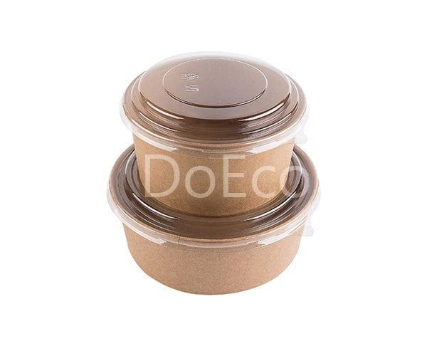 eco rcont doeco salad box 5 600x486 - Contenitore di cartone rotondo con coperchio trasparente