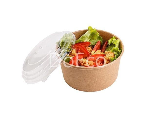 eco salad rcont doeco 600x486 - Contenitore di cartone rotondo con coperchio trasparente