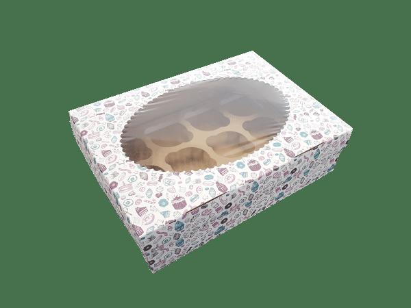 sweet3 600x450 - Коробки ECO MUF 6 Sweet для кексов и маффинов