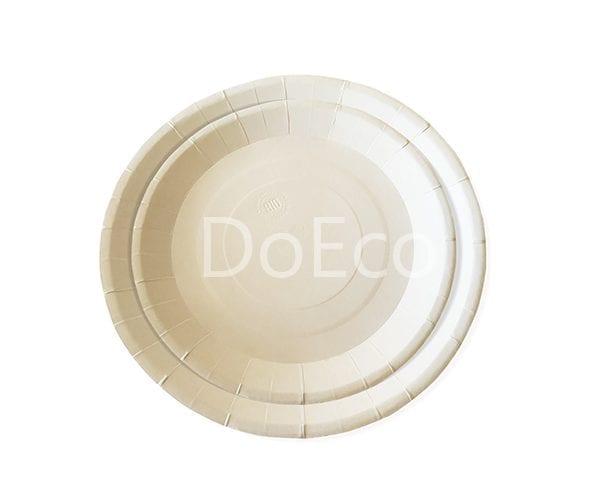 bio тарелка3 600x486 - Одноразовые бумажные тарелки ECO PLATE 230 BIO белые